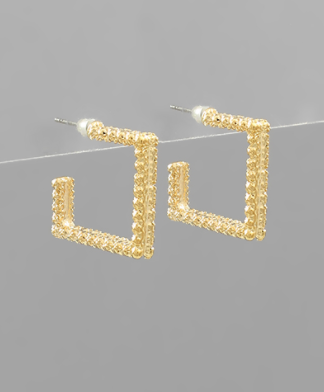 Square Cut Hoops
