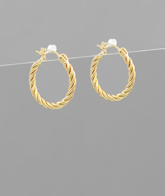 20mm Twisted Hoops