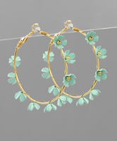 Flower Hoops in Turquoise