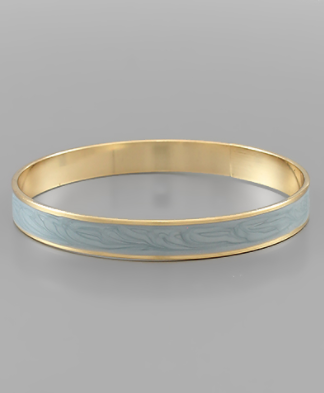 Light Blue and Gold Bangle