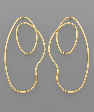 Wavy Oval Earrings