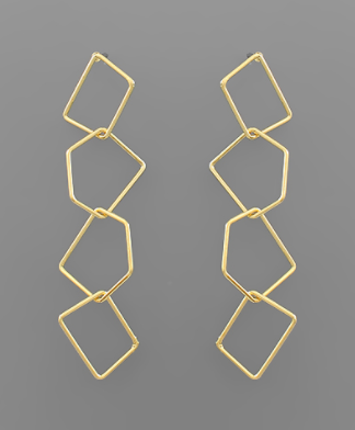 Geometric Link Earrings