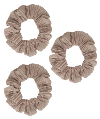 Pleated Scrunchie in Taupe