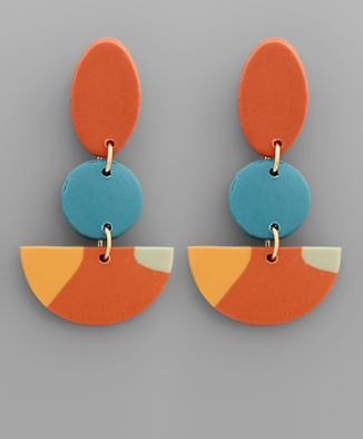 Wedge Polymer Clay Earring