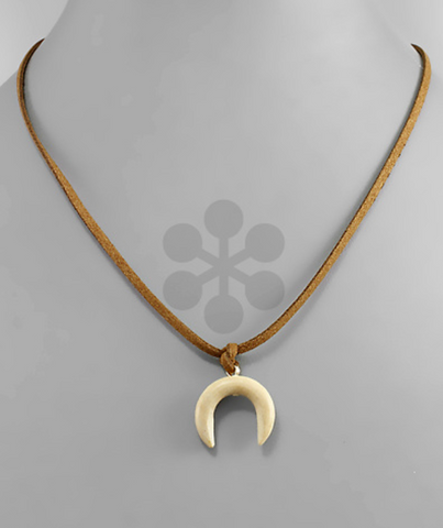 Suede & Tusk Simple Necklace