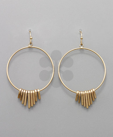 Gold Circle & Dangle Earrings