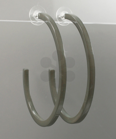 Grey Acrylic Hoops