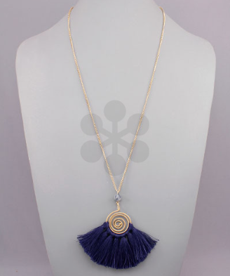 Swirl & Fringe Statement Necklace