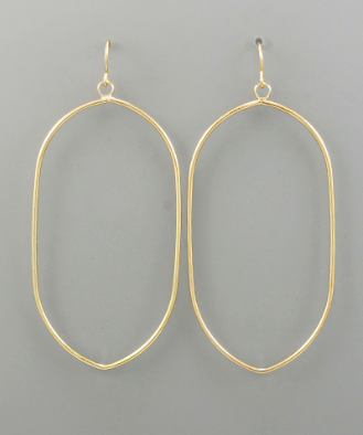 Lightweight Pointed Oval Earrings