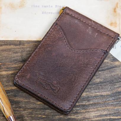 White Wing Leather Small Wallet
