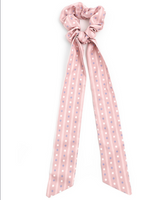Dots & Line Scarf Pony in Blush