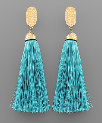 Tassel Drop Earrings in Turquoise