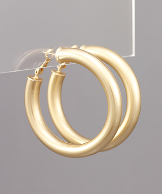 48MM Tube Hoops in Gold