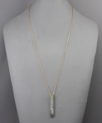 Stone Bar Necklace in Gray