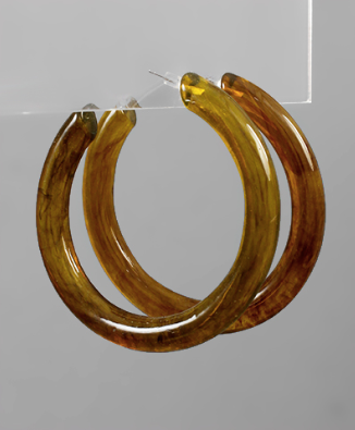 60mm Acrylic Hoops in Brown