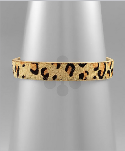 Thin Single Wrap Leopard Bracelet