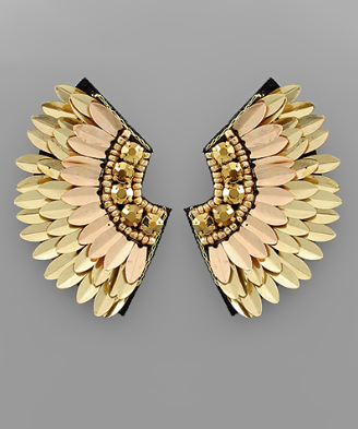 Gold Angel Wing Earrings