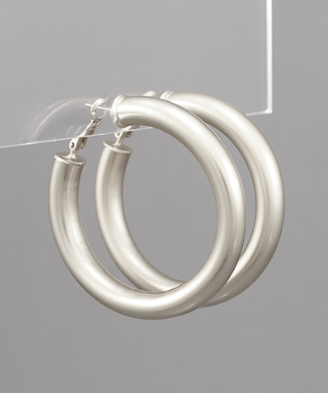 48MM Tube Hoops in Silver