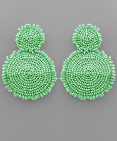 Raw Edge Two Tone Earrings in Lime