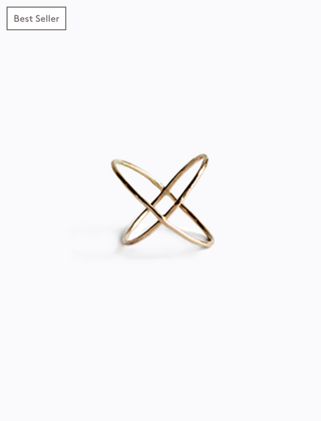 X Ring in Gold by ABLE