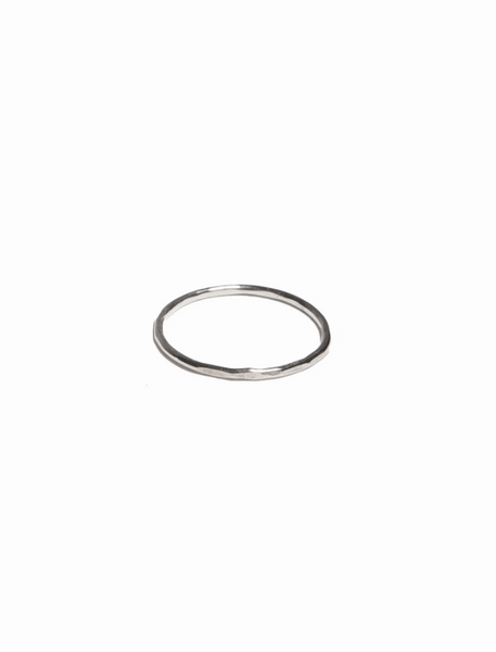 Hammered Stacking Thin Ring