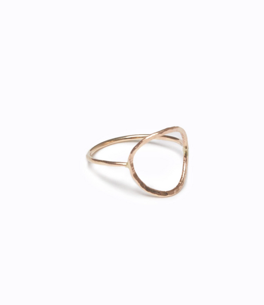 Hammered Circle Ring by ABLE