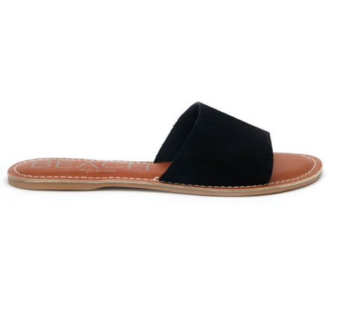 Cabana Black Suede Slide by Matisse