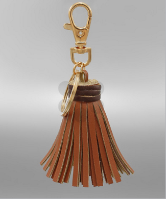 Small Brown Tassel Keychain