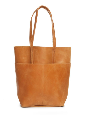 Salem Magazine Tote in Cognac by FashionABLE