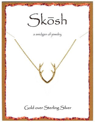 Antler Necklace in Gold by Skösh