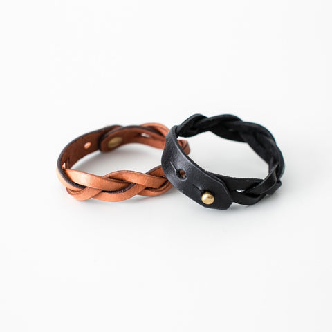 Braided Leather Bracelet by Tribe Alive