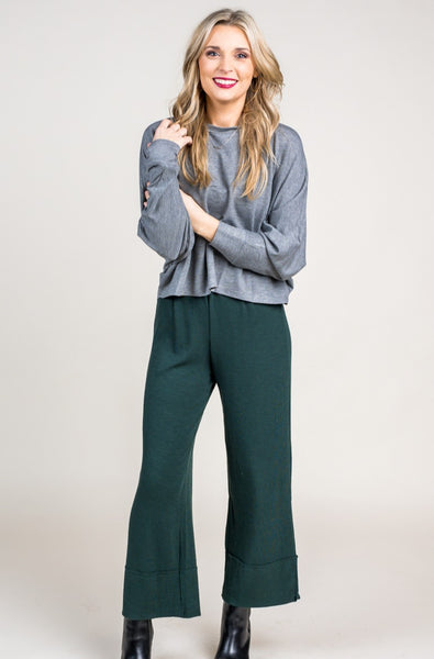 Hadlie Hunter Green Ribbed Pants