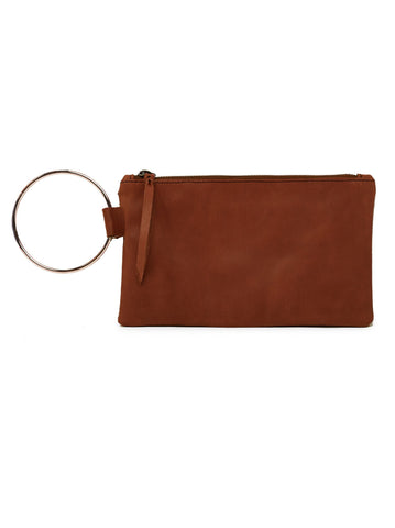 Fozi Wristlet in Chestnut by Able