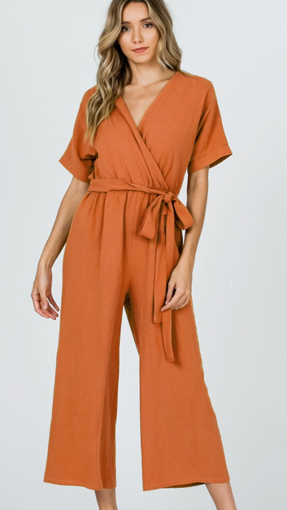 Adelyn Rust Jumpsuit