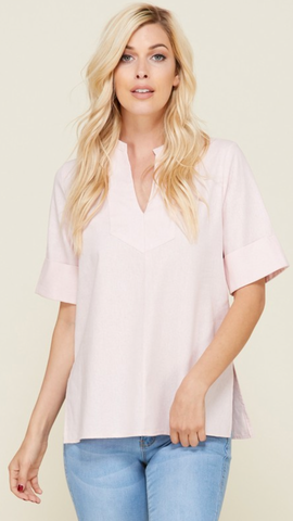 The Zoe Top in Blush