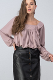 Ruffle Sleeve Bishop Blouse