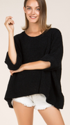 Unruly Comfort Sweater in Black