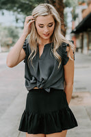 Magnolia Ruffle Skirt in Black
