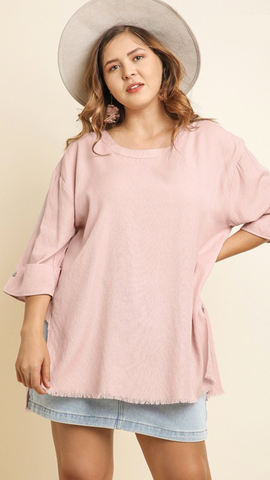 The Melanie Top in Light Mauve