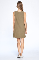 Jenna Sleeveless Dress in Olive