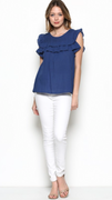 Joanna Navy Top