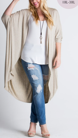 plus size open front cardigan off white studio 3:19