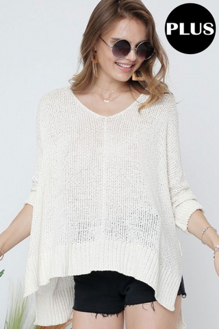 Annalee Cream Lightweight Sweater