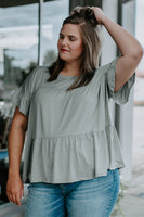 Naar Dusty Sage Tiered Top (1X-3X)