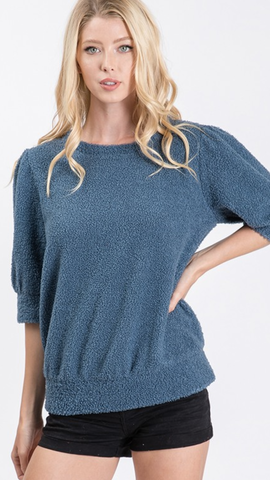 Ashby Sweater Top in Denim