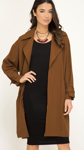 Caramel Craze Long Collared Duster