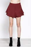 Double Layer Shorts in Wine