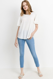 Paulie Textured Ivory Top