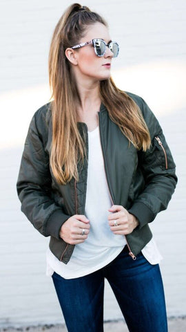 Free Falling Jacket in Olive