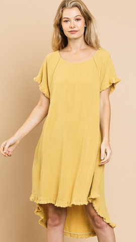 Valerie Short Sleeve Dress in Yellow